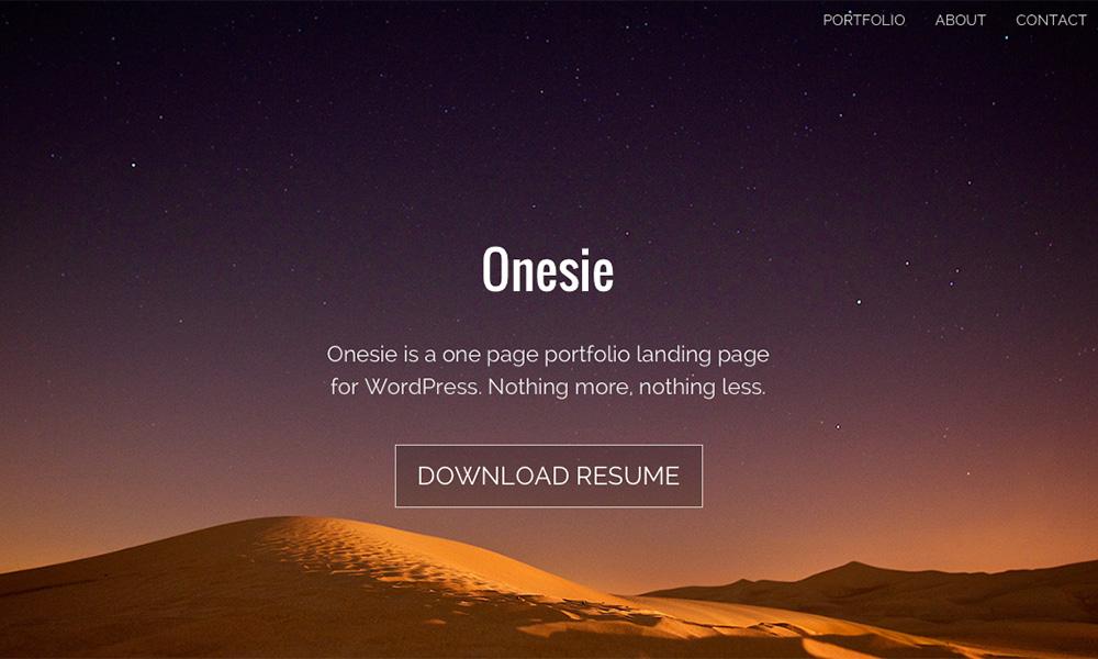 Onesie WordPress主题