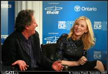 Geoffrey Rush and Cate Blanchett