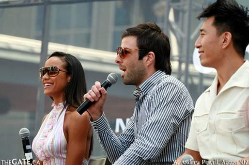 Dania Ramirez, Zachary Quinto and James Kyson Lee