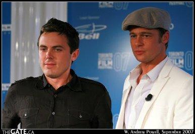 Casey Affleck and Brad Pitt