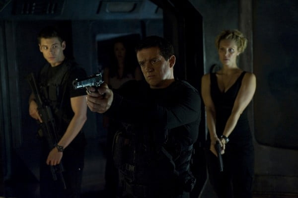 A scene from Stargate Universe, Divided, starring Louis Ferreira as Colonel Young