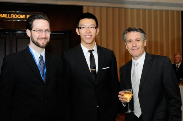 Me, David Li, and host Ralph Benmergui at the BNC Awards