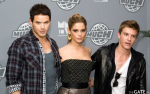 Kellan Lutz, Ashley Greene and Xavier Samuel