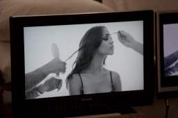 Behind the scenes with Zoe Saldana