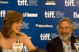 Milla Jovovich and Robert De Niro