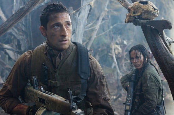 Adrien Brody and Alice Braga in Predators