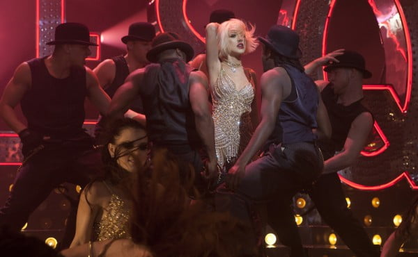 Christina Aguilera in a scene from Burlesque