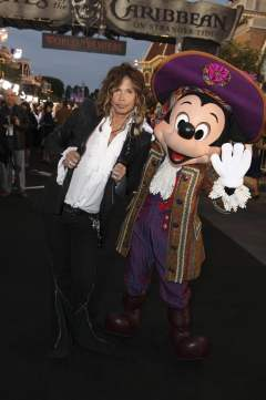 Steven Tyler and Mickey Mouse