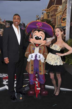 Rick Fox, Mickey Mouse and Eliza Dushku