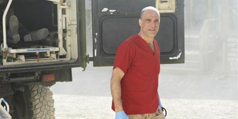 Elias Koteas in a scene from Combat Hospital