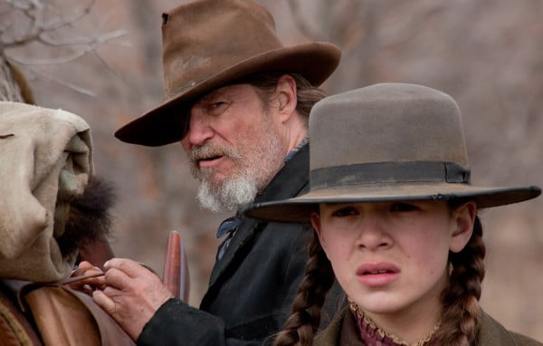 Jeff Bridges and Hailee Steinfeld in True Grit