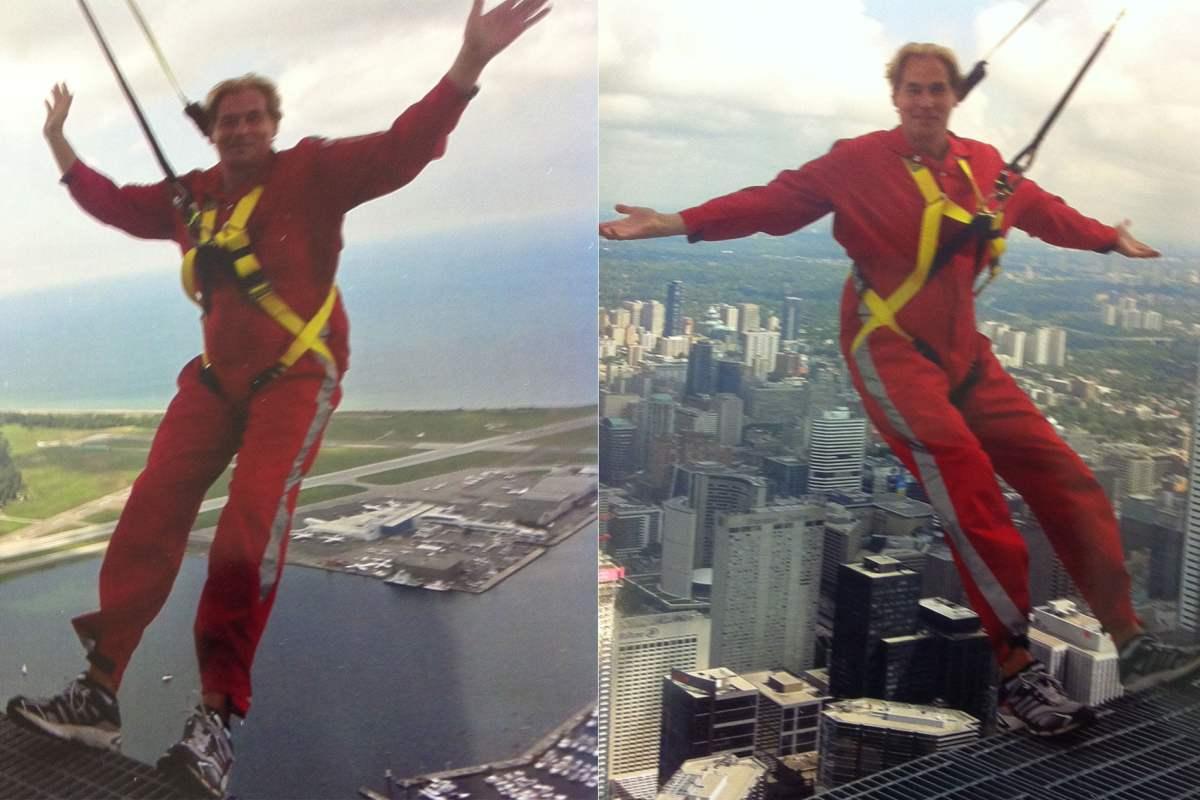 Christopher Heard at the CN Tower's EdgeWalk