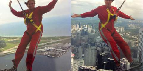 Christopher Heard at the CN Tower's EdgeWalk