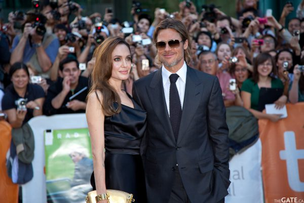 Angelina Jolie and Brad Pitt on the Moneyball red carpet