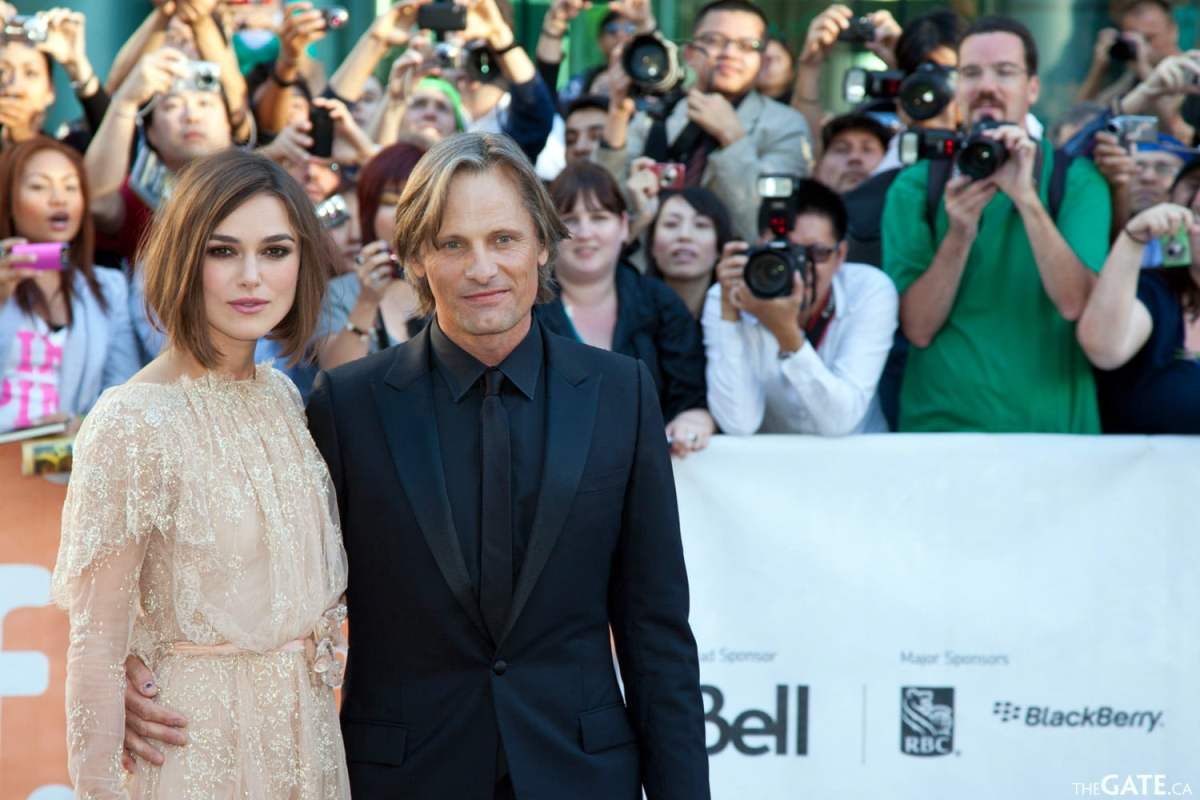 Keira Knightley and Viggo Mortensen