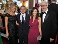 Stacy Keibler, George Clooney, Mary Steenburgen and Ted Danson