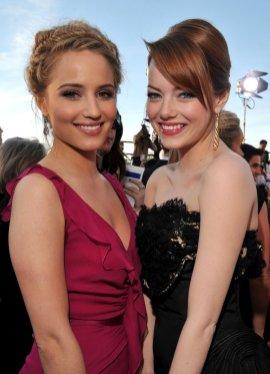 Dianna Agron and Emma Stone