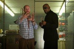 Joss Whedon and Samuel L. Jackson