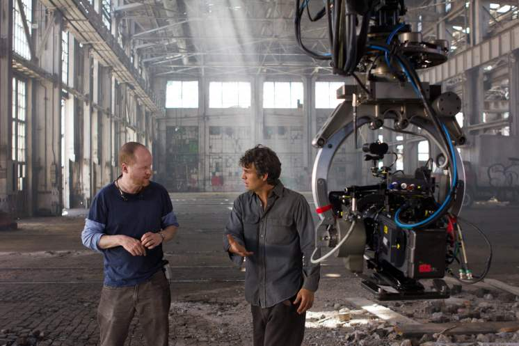 Joss Whedon and Mark Ruffalo