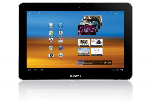 Closeup on Samsung Galaxy Tab 10.1