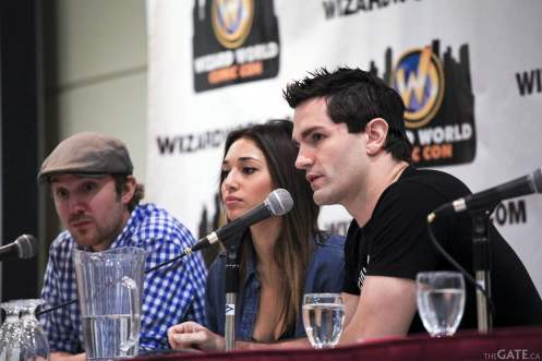 Sam Huntington, Meaghan Rath and Sam Witwer