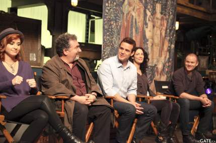 Saul Rubinek and Eddie McClintock