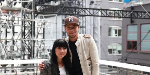 MuchMusic VJs Lauren Toyota and Scotty Willats