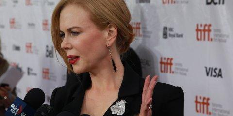 Nicole Kidman on The Railway Man red carpet