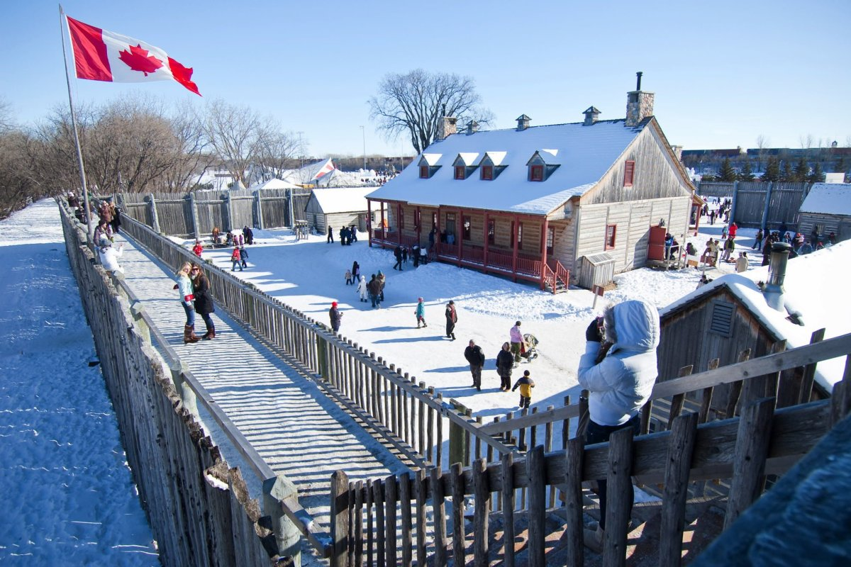 Fort Gibraltar during the Festival du Voyageur in Winnipeg, Manitoba