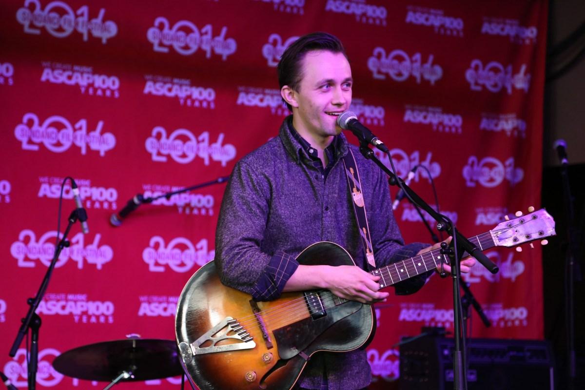 Sondre Lerche performing at the 2014 Sundance ASCAP Music Café