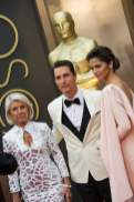 Matthew McConaughey with Camila Alves and his mother