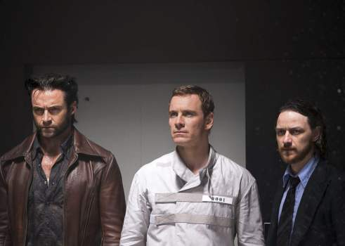 Hugh Jackmen, Michael Fassbender and James McAvoy