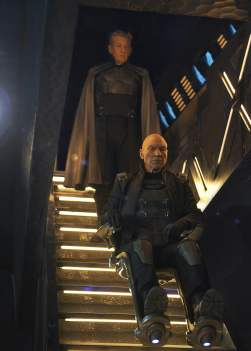 Ian McKellan as Magneto and Patrick Stewart as Xavier