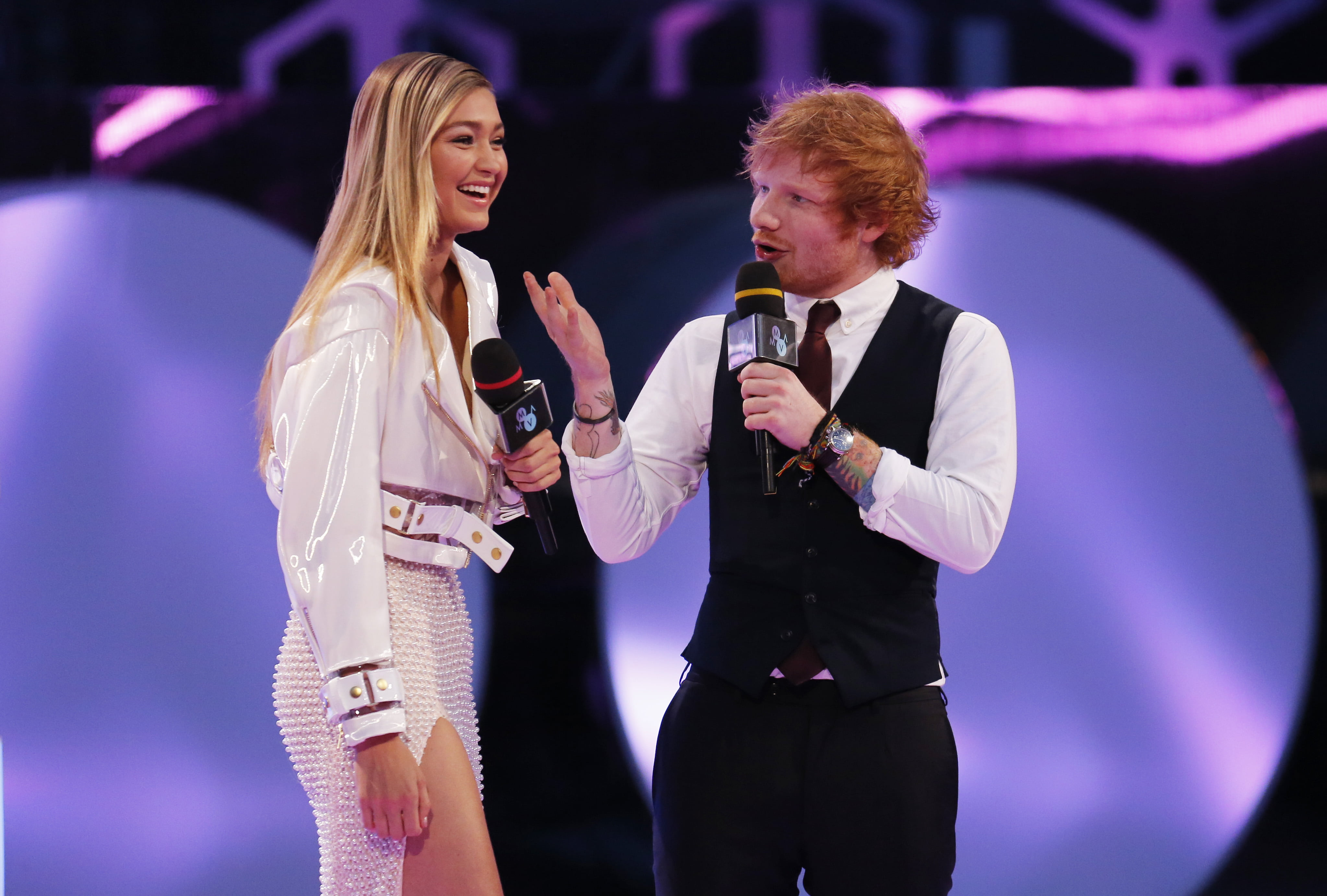 Gigi Hadid and Ed Sheeran