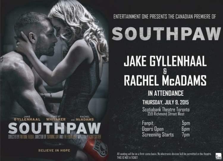Southpaw Canadian Premiere