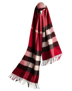 Burberry Cashmere Scarf in Parade Red