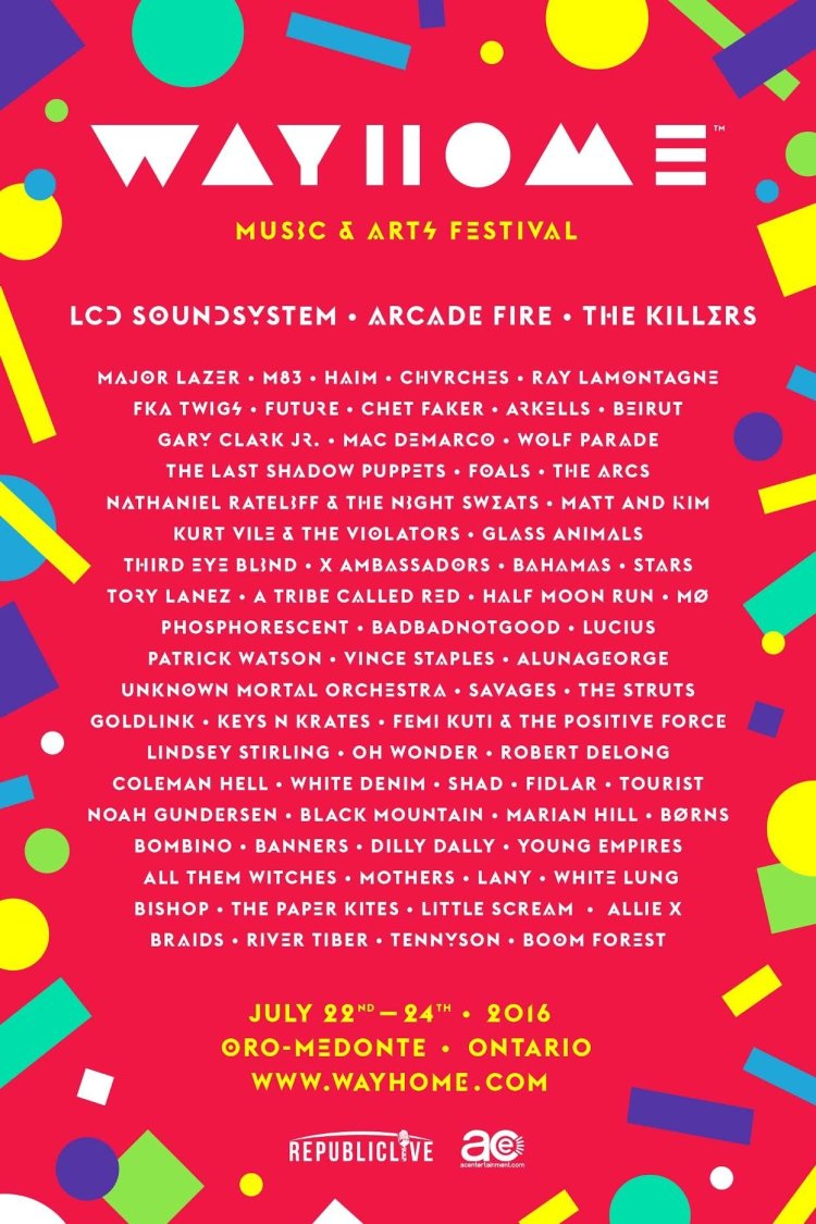 WayHome Music and Arts Announces 2016 Line-Up