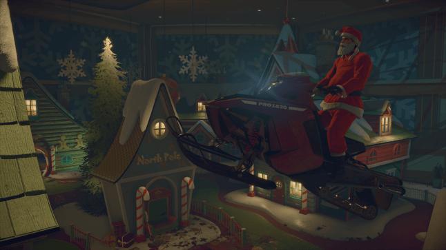 Frank West as Santa