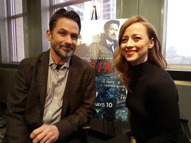 Billy Campbell and Karine Vanasse from Cardinal
