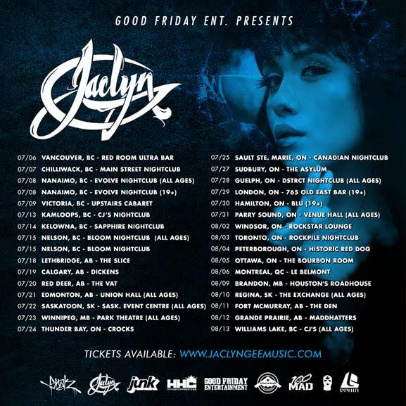 Jaclyn Gee tour schedule