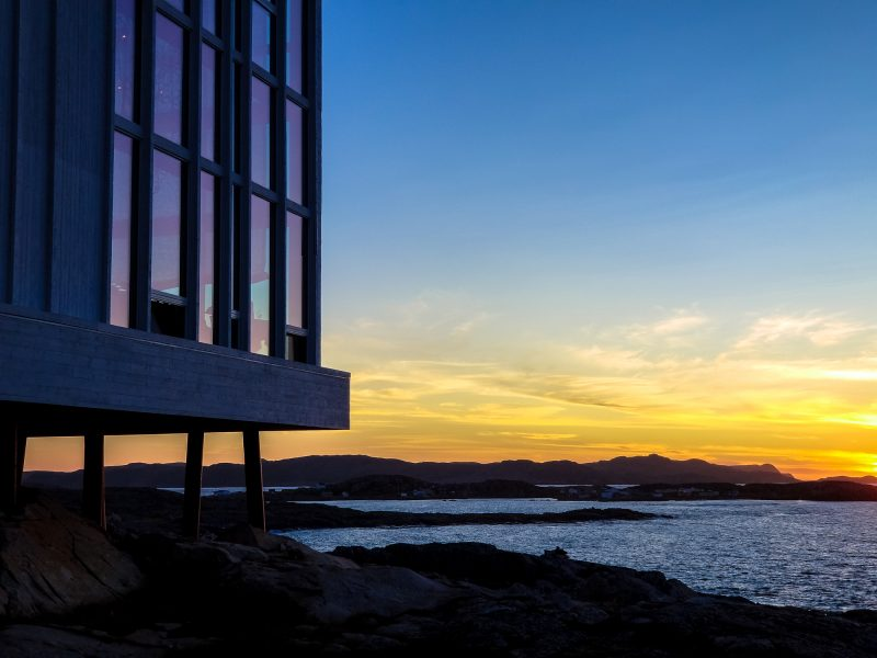 Fogo Island Inn at sunset | Samsung Galaxy Note 8
