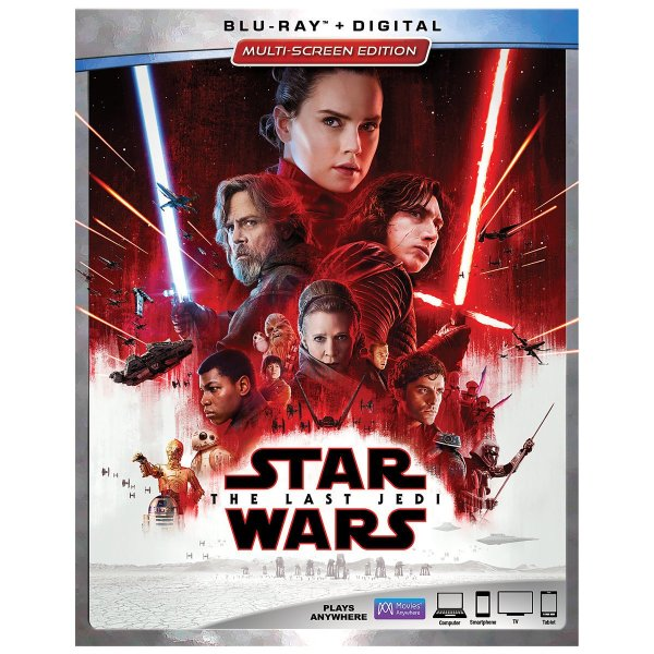 Stars Wars The Last Jedi on Blu-ray
