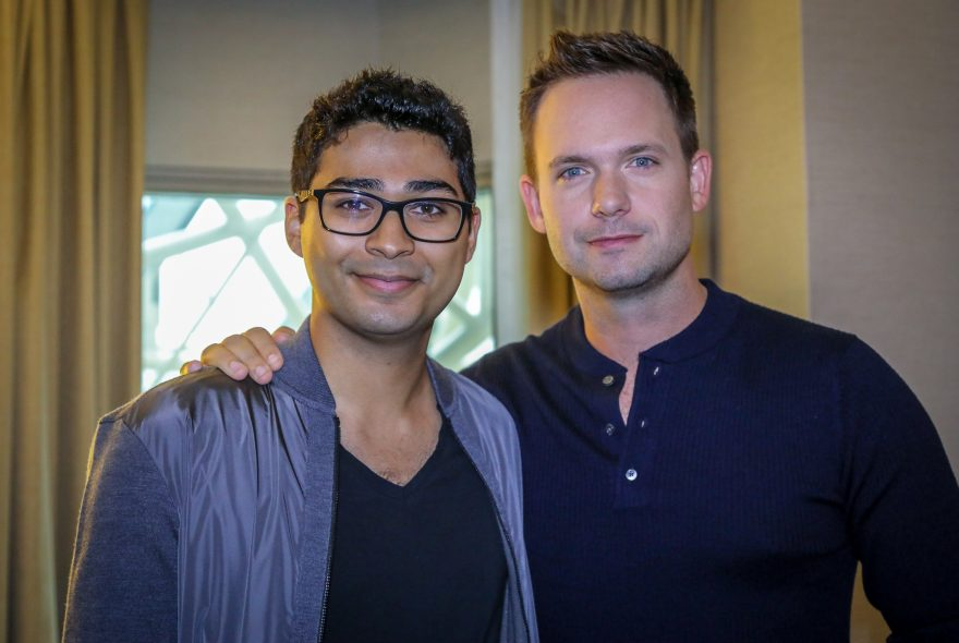 Clara director Akash Sherman and actor Patrick J. Adams