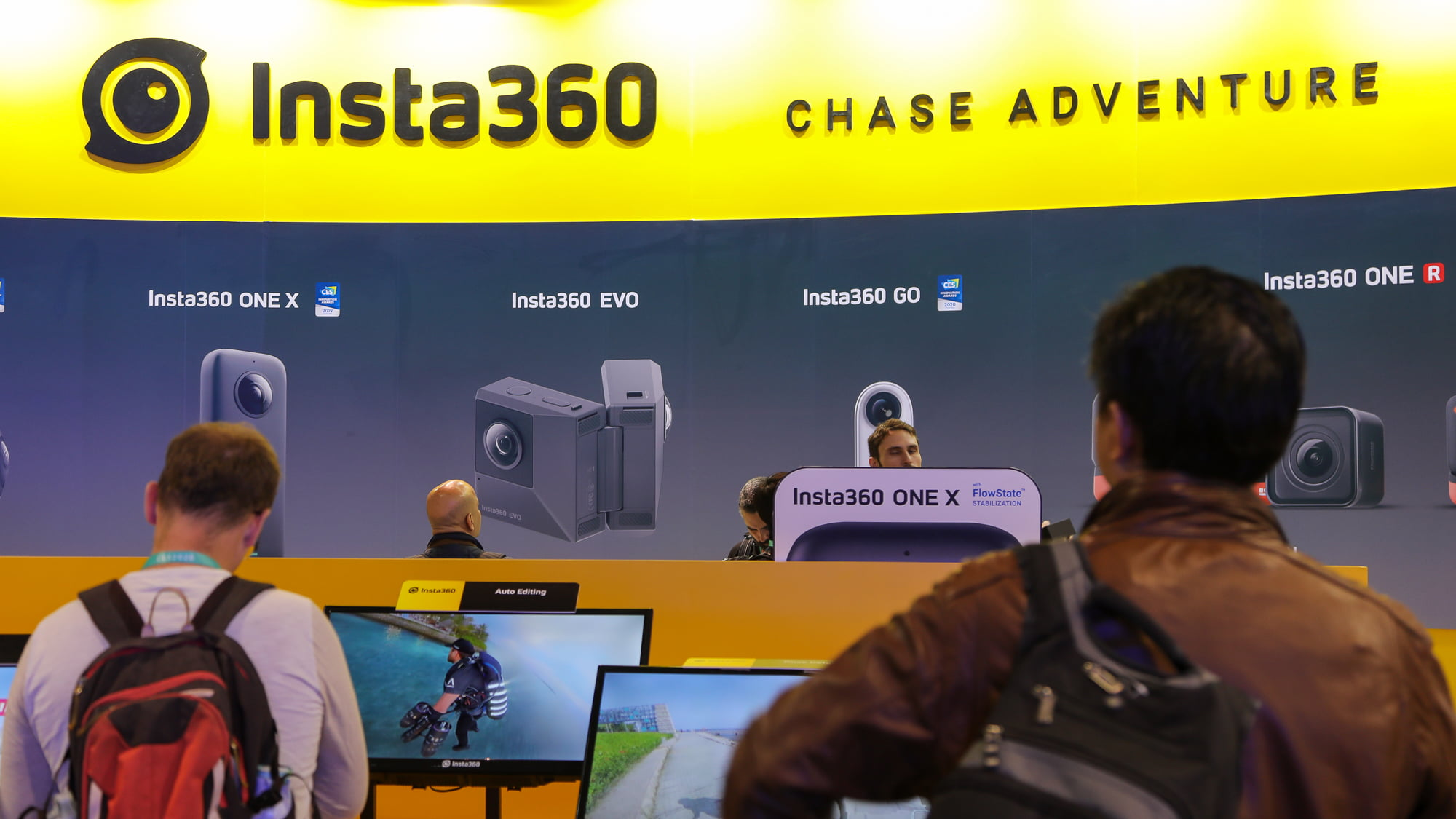 Insta360 booth at CES 2020