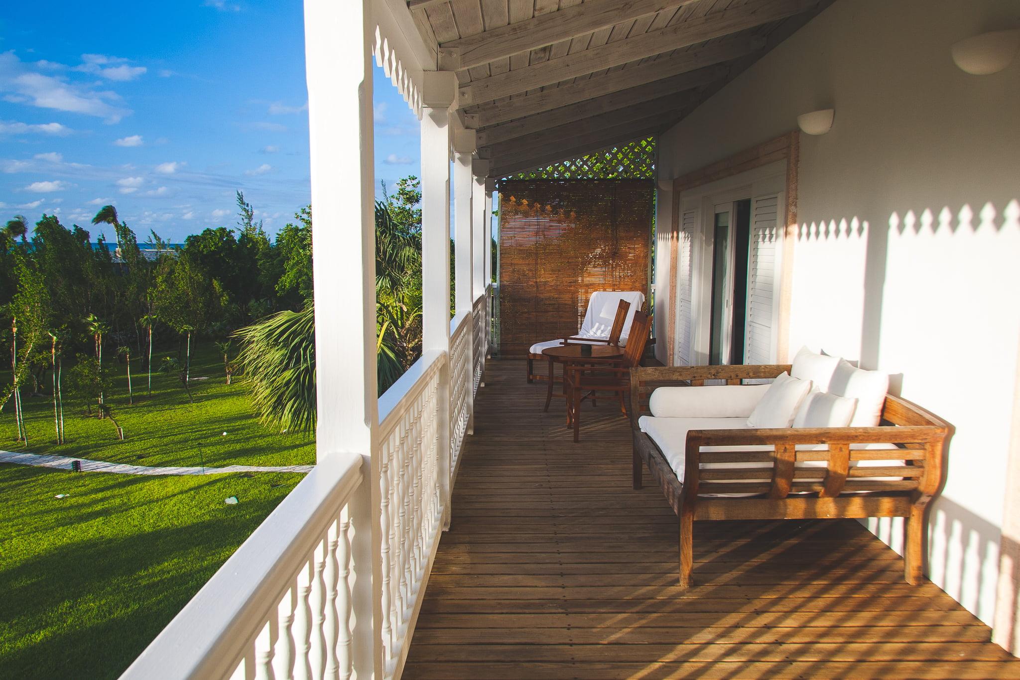 A balcony at Parrot Cay