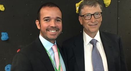 Smartmatic CEO Introduces Creepy Bill Gates at Global Citizen Conference in June 2015