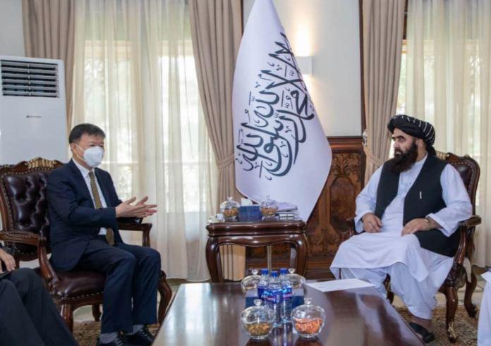 china taliban meeting amir khan muttaqi