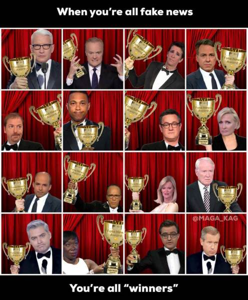 Image result for trump fake news awards