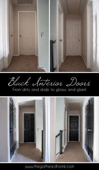 Black Interior Doors - The Gathered Home
