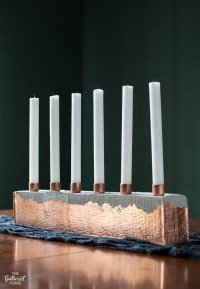 DIY Copper and Cement Candle Holder - The Gathered Home